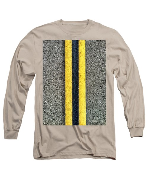 Double Yellow Road Lines Long Sleeve T-Shirt