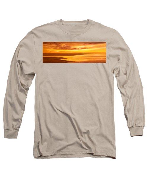 Golden Panoramic Sunset Long Sleeve T-Shirt