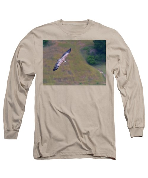 Griffon Vulture Flying, Drome Provencale, France Long Sleeve T-Shirt