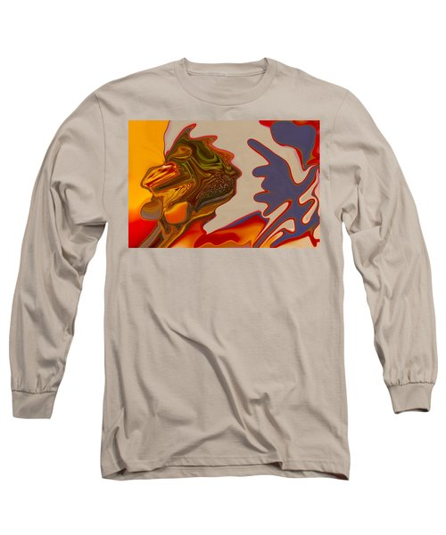 Long Sleeve T-Shirt featuring the painting Intuition by Omaste Witkowski