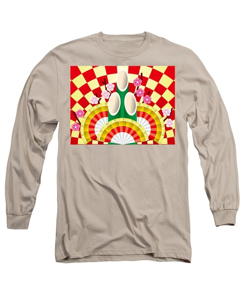 Japanese Newyear Decoration Long Sleeve T-Shirt