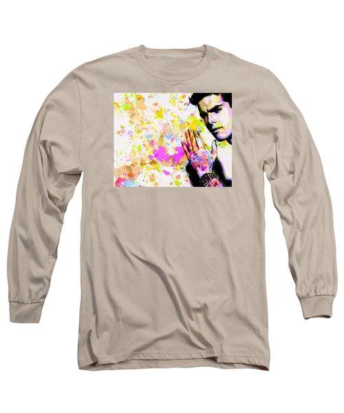 Long Sleeve T-Shirt featuring the mixed media Kaka by Svelby Art
