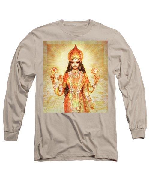 Lakshmi The Goddess Of Fortune And Abundance Long Sleeve T-Shirt