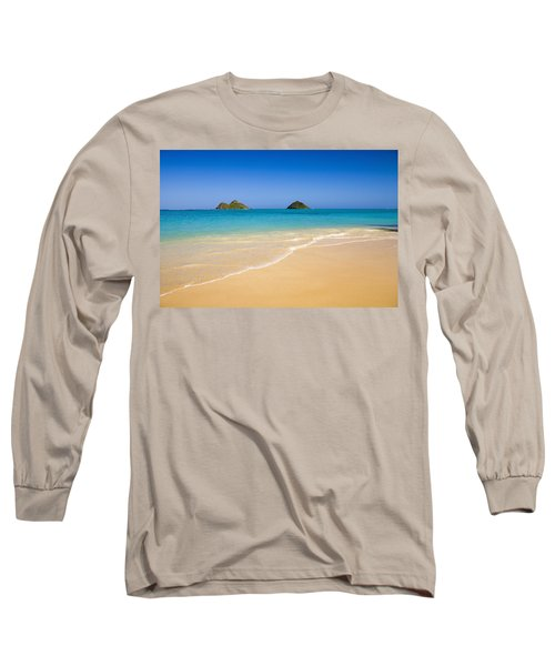Lanikai, Mokulua Islands Long Sleeve T-Shirt by Tomas del Amo - Printscapes