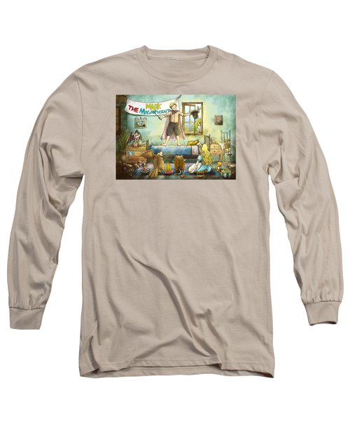 Mark The Magnificent Long Sleeve T-Shirt by Reynold Jay