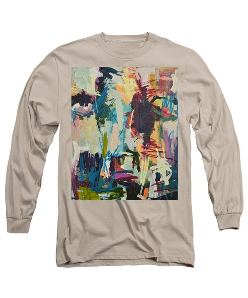 Modern Abstract Cow Painting Long Sleeve T-Shirt