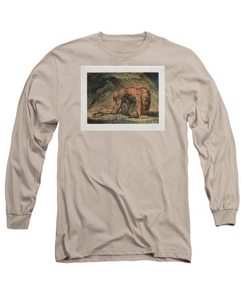 Nebuchadnezzar Long Sleeve T-Shirt by William Blake