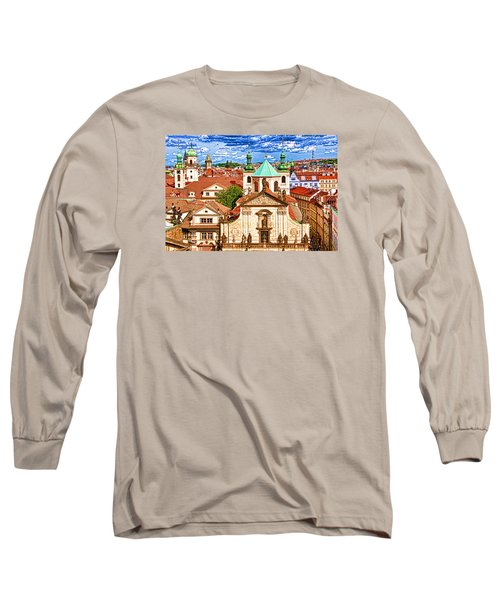 Long Sleeve T-Shirt featuring the photograph Old Town Prague by Dennis Cox WorldViews