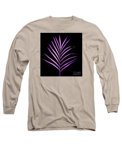 Palm Leaf Long Sleeve T-Shirt by Tony Cordoza