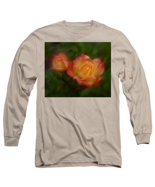 Long Sleeve T-Shirt featuring the photograph 2 Roses by Richard Cummings
