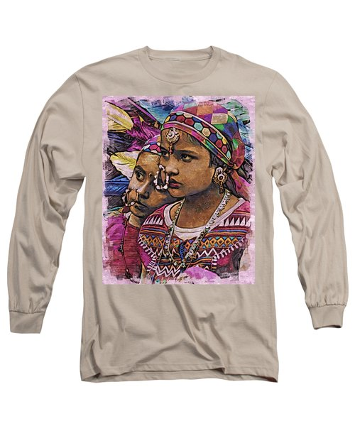 Long Sleeve T-Shirt featuring the digital art Sisters by Bliss Of Art