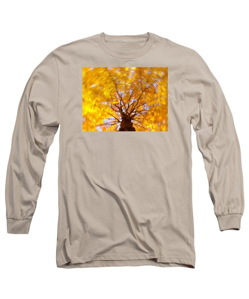 Spinning Maple Long Sleeve T-Shirt by Bernhart Hochleitner