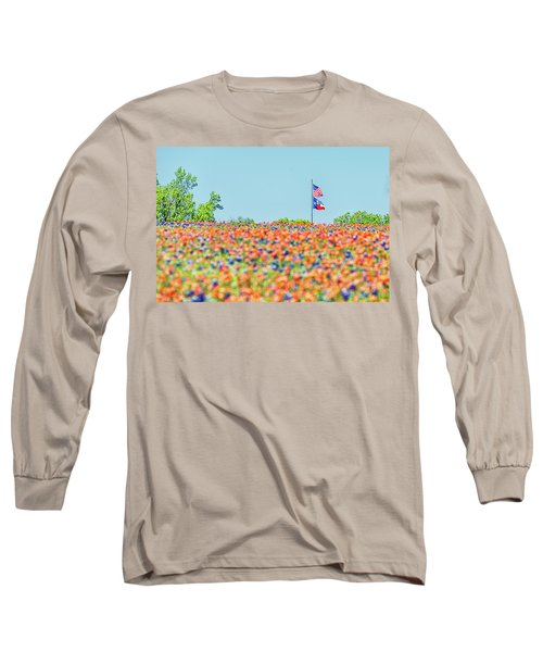 God Bless America And God Bless Texas Long Sleeve T-Shirt