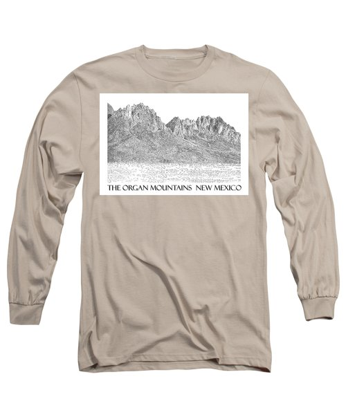 Long Sleeve T-Shirt featuring the painting The Organ Mountains by Jack Pumphrey