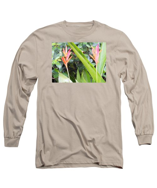 Tropical Flowers Long Sleeve T-Shirt by Kay Gilley