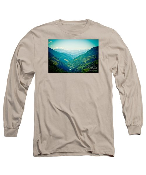 Valley Himalayas Mountain Nepal Long Sleeve T-Shirt
