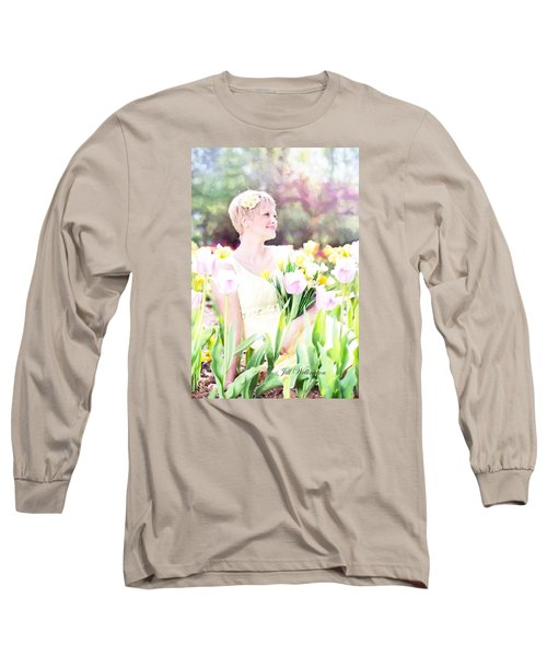 Vintage Val Spring Tulips Long Sleeve T-Shirt