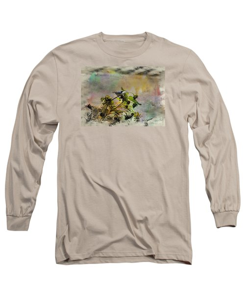White Breasted Nuthatch Long Sleeve T-Shirt by Yumi Johnson