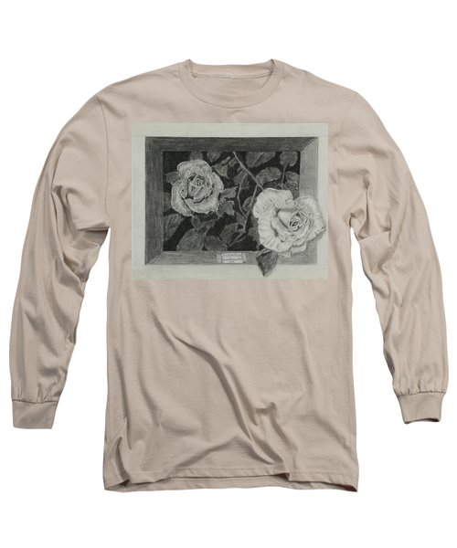 2 White Roses Long Sleeve T-Shirt by Quwatha Valentine