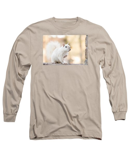 White Squirrel Long Sleeve T-Shirt by Vizual Studio