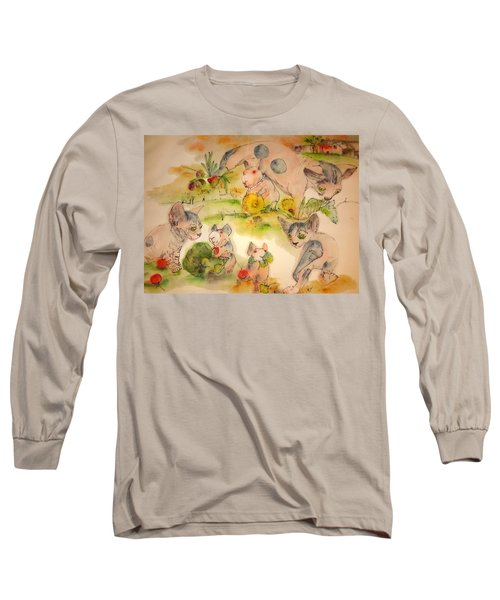 World Of Guinea Pigs And Naked Cats Album Long Sleeve T-Shirt by Debbi Saccomanno Chan