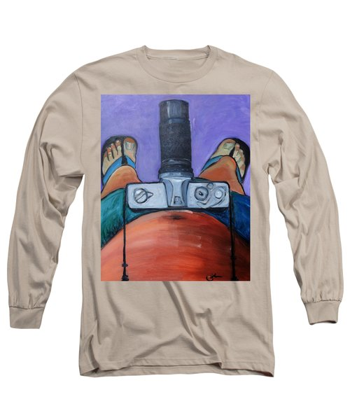 Long Sleeve T-Shirt featuring the painting 200 Zoom by Gary Coleman