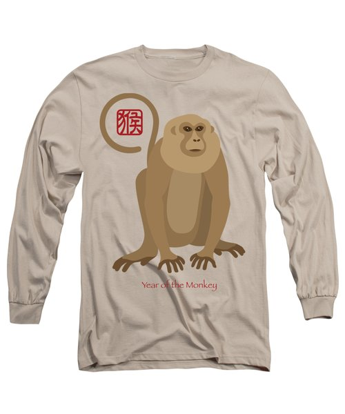 2016 Chinese New Year Of The Monkey Long Sleeve T-Shirt by Jit Lim