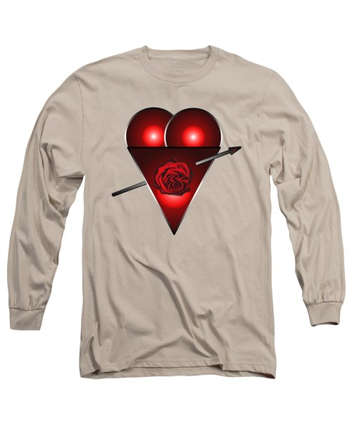 21st Century Love Heart  Long Sleeve T-Shirt by Tom Conway