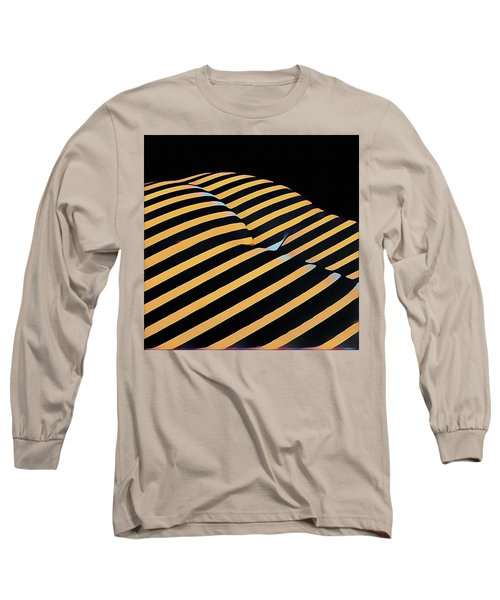 2612s-ak Abstract Rear Butt Bum Thighs Zebra Striped Woman In Composition Style Long Sleeve T-Shirt