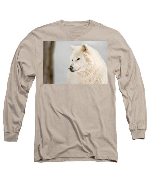 Arctic Wolf Portrait Long Sleeve T-Shirt