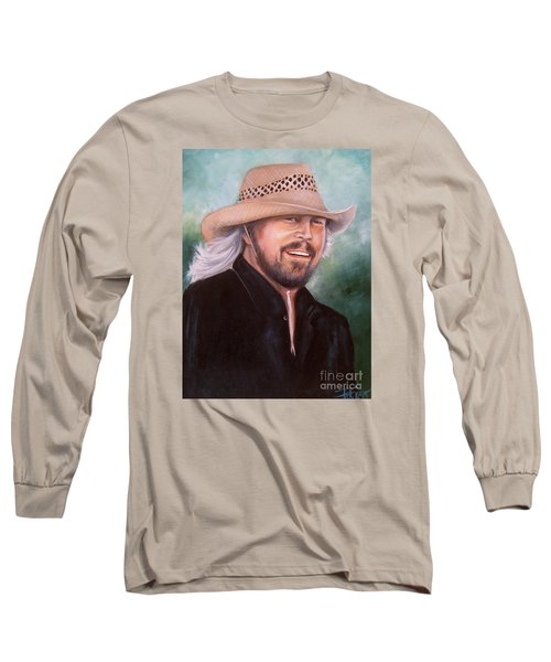 Barry Gibb Long Sleeve T-Shirt by Patrice Torrillo