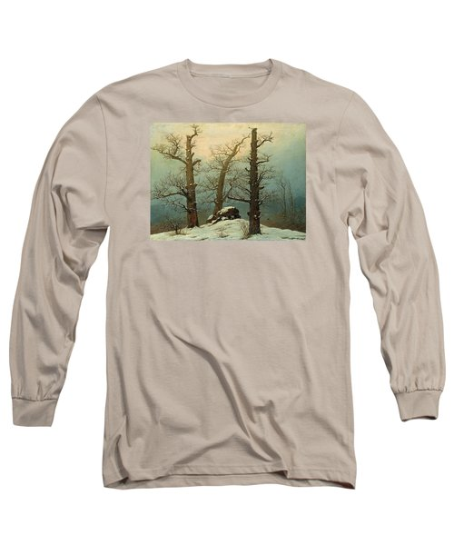 Cairn In Snow Long Sleeve T-Shirt