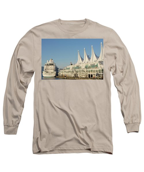 Canada Place Long Sleeve T-Shirt by Ross G Strachan