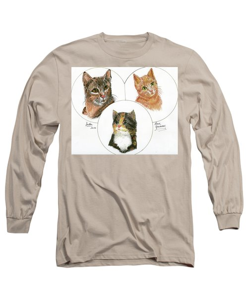 3 Cats For Juda Long Sleeve T-Shirt