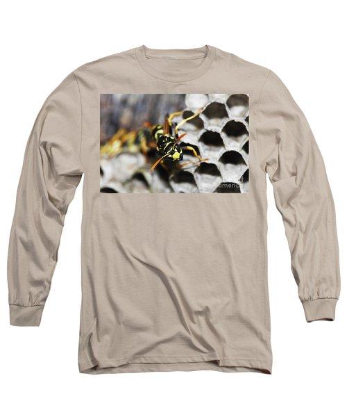 Common Wasp Vespula Vulgaris Long Sleeve T-Shirt