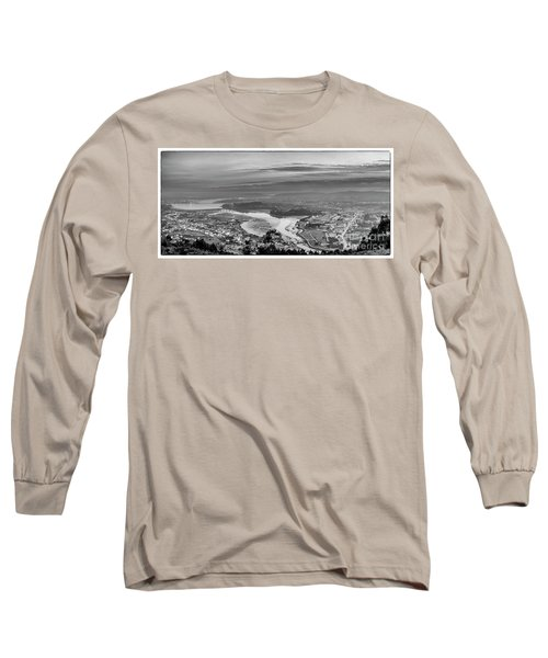 Long Sleeve T-Shirt featuring the photograph Ferrol's Ria Panorama From Mount Ancos Galicia Spain by Pablo Avanzini
