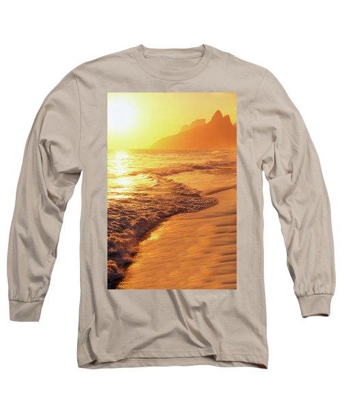 Ipanema Beach Rio De Janeiro Brazil Long Sleeve T-Shirt by Utah Images