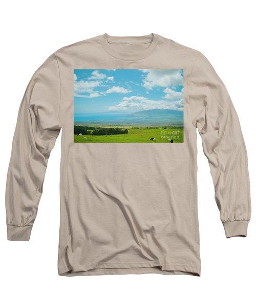 Kula Maui Hawaii Long Sleeve T-Shirt by Sharon Mau