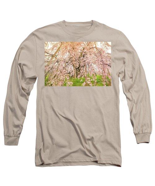 Long Sleeve T-Shirt featuring the photograph Miharu Takizakura Weeping Cherry04 by Tatsuya Atarashi