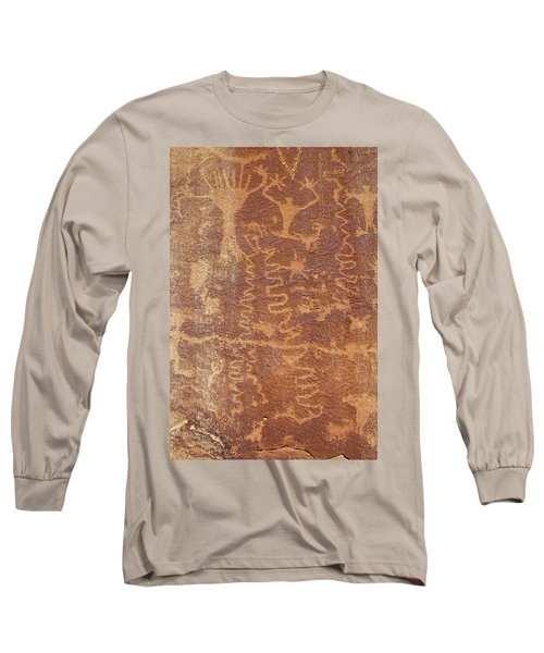Petroglyph - Fremont Indian Long Sleeve T-Shirt by Breck Bartholomew