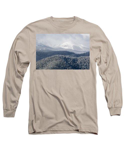 Pikes Peak In Snow Long Sleeve T-Shirt