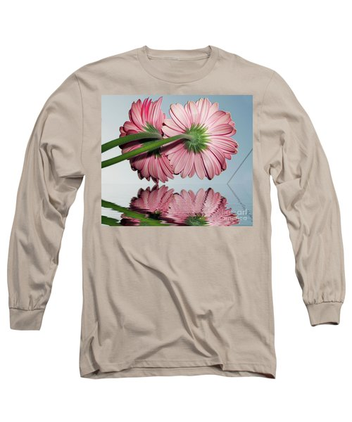 Pink Gerbers Long Sleeve T-Shirt by Elvira Ladocki