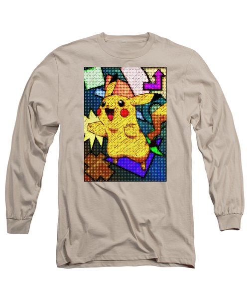 Pokemon - Pikachu Long Sleeve T-Shirt by Kyle West