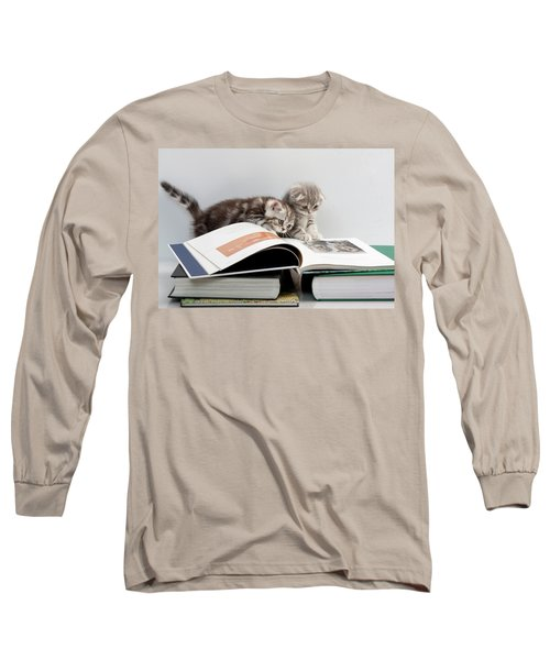 Scottish Fold Cats Long Sleeve T-Shirt by Evgeniy Lankin