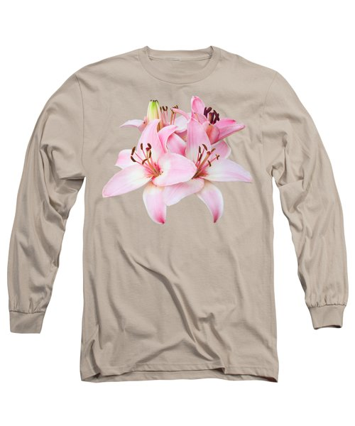Long Sleeve T-Shirt featuring the photograph Spray Of Pink Lilies by Jane McIlroy