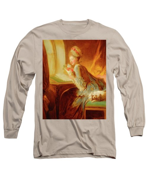 Long Sleeve T-Shirt featuring the painting The Love Letter by Jean Honore Fragonard