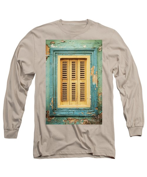Traditional House Window Architecture Detail La Valletta Old Tow Long Sleeve T-Shirt