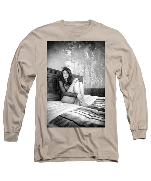 Trust Yourself Then You Will Know How To Live Long Sleeve T-Shirt by Traven Milovich