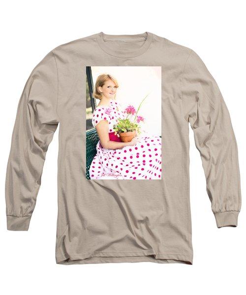 Vintage Val Ice Cream Parlor Long Sleeve T-Shirt by Jill Wellington