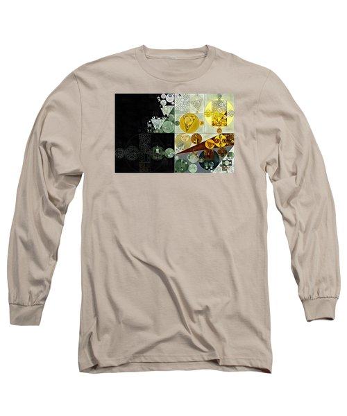 Long Sleeve T-Shirt featuring the digital art Abstract Painting - Smoky Black by Vitaliy Gladkiy